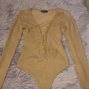 Misguided sweater long sleeve bodysuit